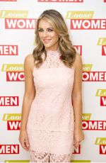 ELIZABETH HURLEY at Loose Women in London 10/10/2017