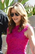 ELIZABETH HURLEY Heading to Breast Cancer Awareness at New Century City Mall in Los Angeles 10/05/2017