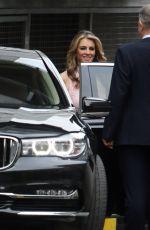 ELIZABETH HURLEY Leaves ITV Studios in London 10/10/2017