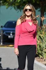ELIZABETH HURLEY on the Set of Extra in Los Angeles 10/05/2017