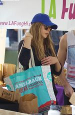 ELIZABETH OLSEN and Robbie Arnett at Farmers Market in Los Angeles 10/29/2017