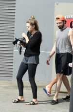 ELIZABETH OLSEN Leaves a Gym in Los Angeles 10/03/2017