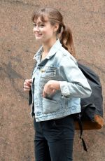 ELLA PURNELL on the Set of Sweetbitter in New York 10/26/2017