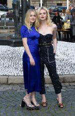 ELLE and DAKOTA FANNING at Miu Miu Fashion Show in Paris 10/03/2017