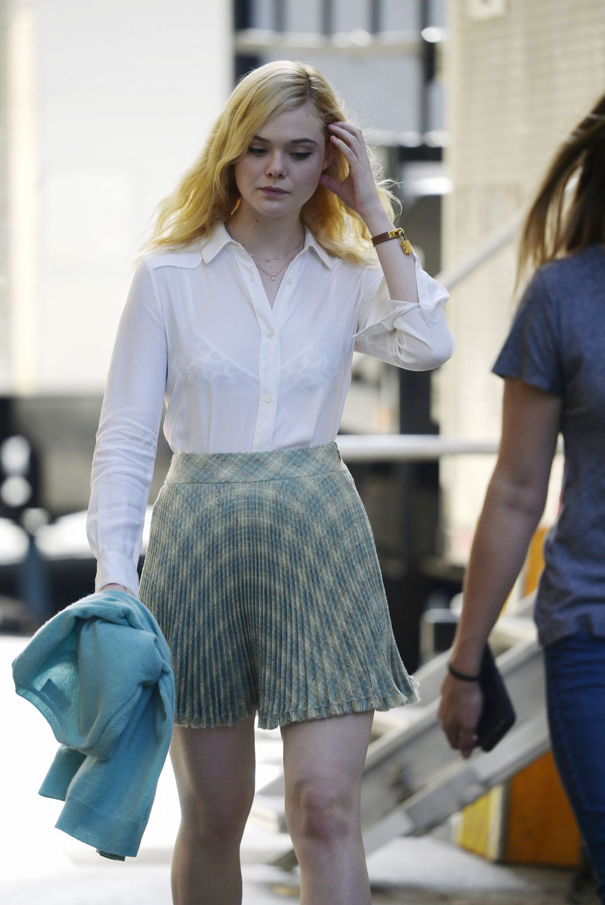 Elle Fanning On The Set Of Untitled Woody Allen Movie In -3208