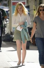 ELLE FANNING on the Set of Untitled Woody Allen Movie in New York 10/10/2017