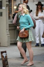 ELLE FANNING on the Set of Untitled Woody Allen Project 10/06/2017