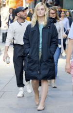 ELLE FANNING on the Set of Untitled Woody Allen Project in New York 10/05/2017