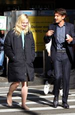 ELLE FANNING on the Set of Woody Allen Movie in New York 10/05/2017