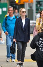 ELLE FANNING Out and About in New York 10/01/2017