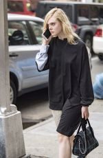 ELLE FANNING Out in New York 10/05/2017