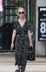 ELLE FANNING Out in New York 10/08/2017