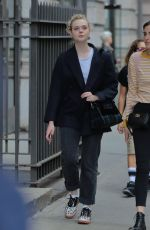 ELLE FANNING Out Shopping in New York 09/30/2017