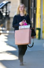 ELLE FANNING Out Shopping in New York 10/17/2017