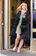 ELLE FANNING Shopping a Bagel in New York 10/18/2017