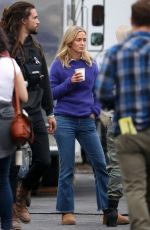 EMILY BLUNT on the Set of A Quiet Place in New York 10/27/2017