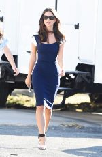 EMILY RATAJKOWSKI on the Set of Lying and Stealing in Los Angeles 10/25/2017