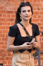 EMILY RATAJKOWSKI Out and About in New York 10/20/2017