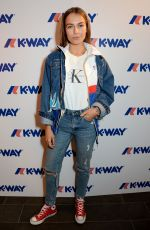 EMMA LOUISE at K-Way Flagship Store Opening in London 10/04/2017