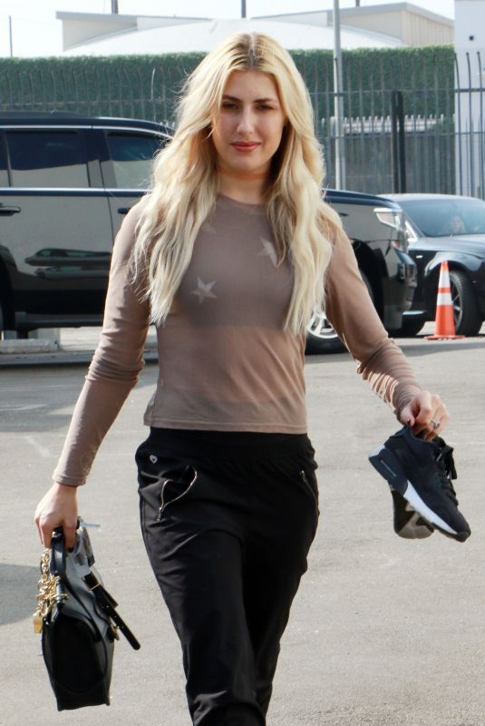 EMMA SLATER Arrives at Dancing with the Stars Studio in Los Angeles 10/29/2017