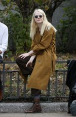 EMMA STONE on the Set of Maniac in New York 10/23/2017