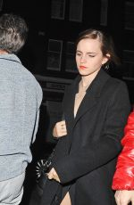 EMMA WATSON Arrives at Chiltern Firehouse in London 10/21/2017