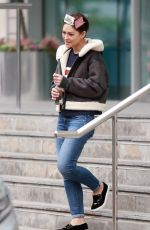 EMMA WILLIS Leaves Salford Hotel in Manchester 10/16/2017