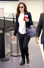 EMMY ROSSUM at Los Angeles International Airport 10/28/2017