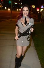 ERIKA JORDAN Leaves Pre-halloween Party in Los Angeles 10/29/2017