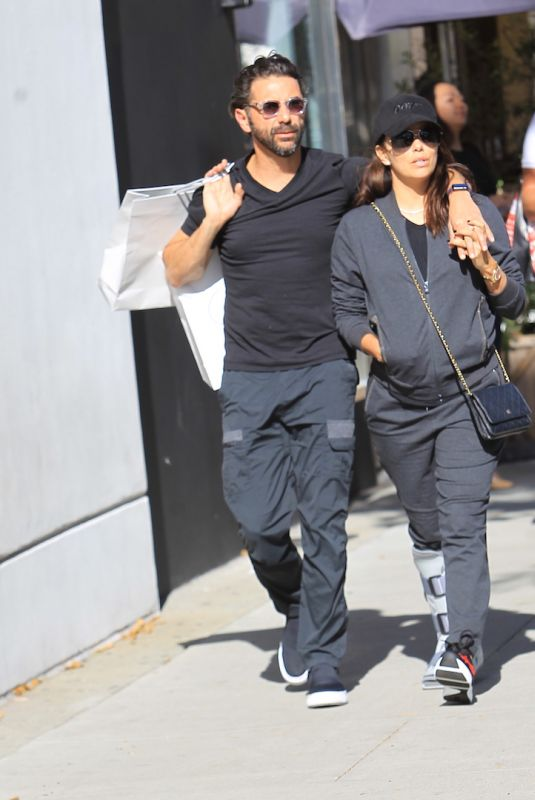 EVA LONGORIA and Jose Baston Out and About in Beverly Hills 10/21/2017