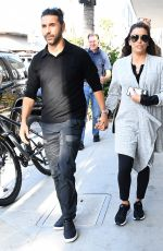 EVA LONGORIA and Jose Baston Out for Lunch in Beverly Hills 10/13/2017