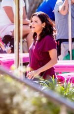 EVA LONGORIA on the Set of  Dog Days in Los Angeles 10/06/2017