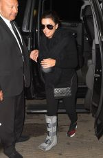 EVA LONGORIA with Support Boot on Her Broken Ankle at LAX Airport 10/26/2017