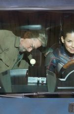 EVANGELINE LILLY and Michael Douglas on the Set of Ant-man and the Wasp in Atlanta 10/18/2017