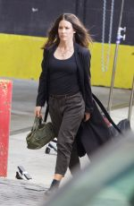 EVANGELINE LILLY Arrive on the Set of Ant-man and the Wasp in Atlanta 10/14/2017