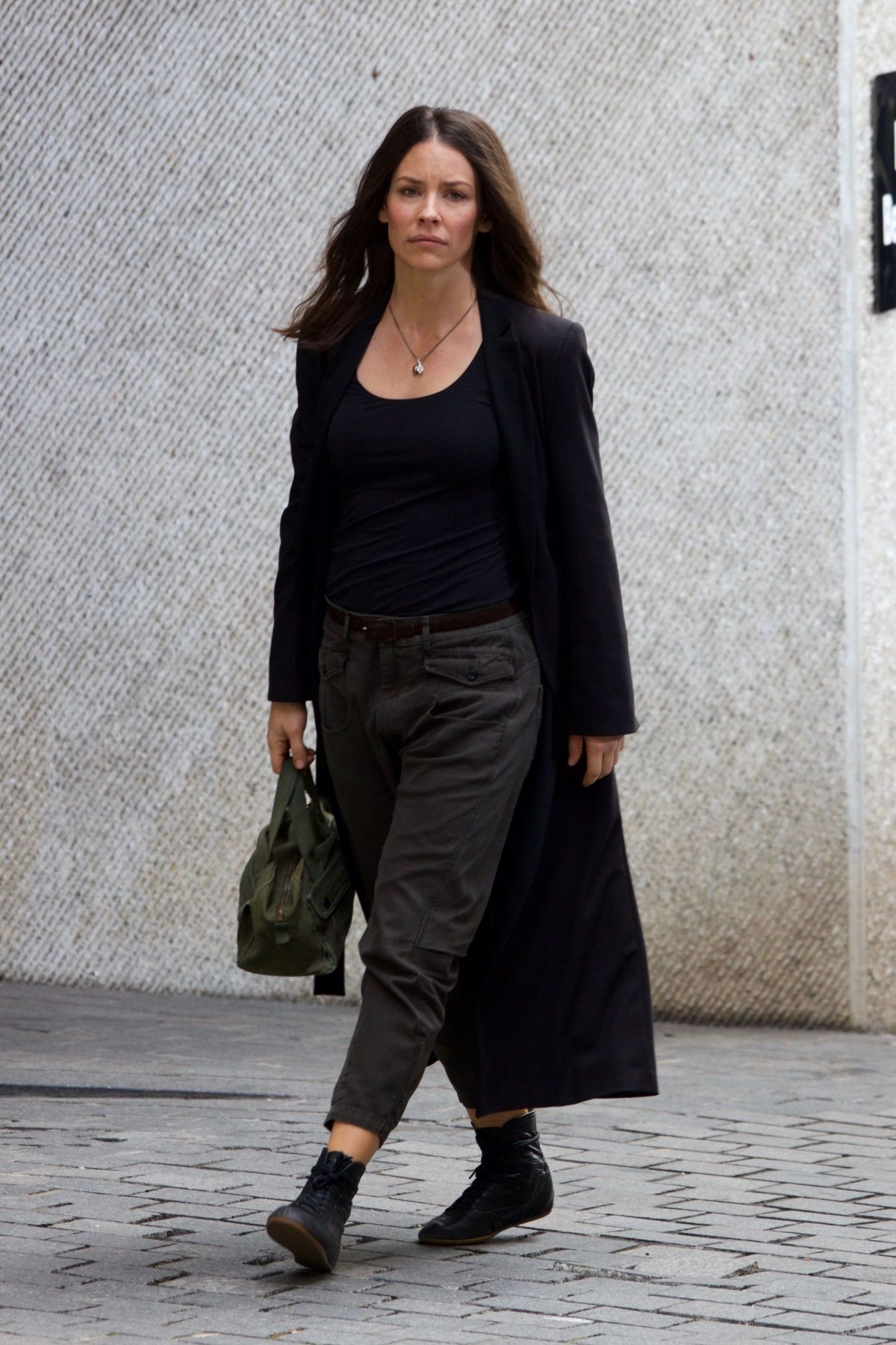 EVANGELINE LILLY Arrive on the Set of Ant-man and the Wasp ...