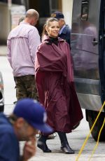 EVANGELINE LILLY on the Set of Ant-man and the Wasp in Atlanta 10/17/2017