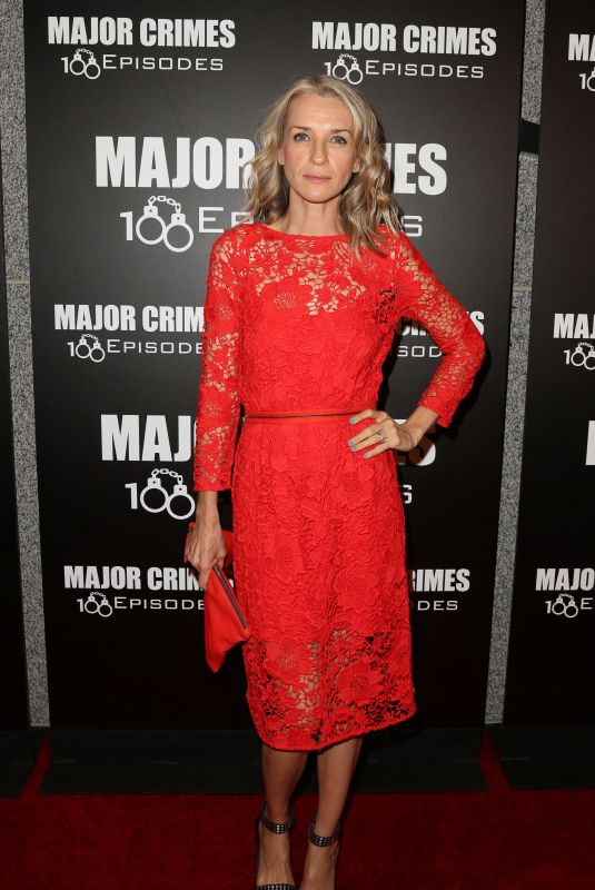 EVER CARRADINE at Major Crimes 100th Episode Celebration in Los Angeles 10/07/2017
