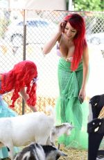 FARRAH ABRAHAM in Mermaid Costume at a Pumpkin Patch in Los Angeles 10/27/2017