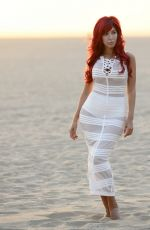 FARRAH ABRAHAM on the Set of Sunset Photoshoot at a Beach in Los Angeles 10/09/2017
