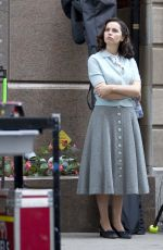 FELICITY JONES on the Set of On the Basis of Sex in Montreal 10/03/2017