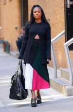 GABRIELLE UNION Out and About in New York 10/17/2017