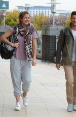 GEMMA ATKINSON and Aljaz Skorjanec Arrives at Dance Rehearsals in Manchester 10/19/2017