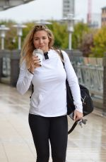 GEMMA ATKINSON Arrives at SCD Practice Studio in Manchester 10/24/2017