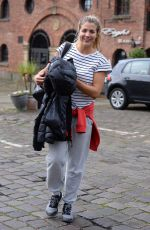 GEMMA ATKINSON Leaves Key 103 Radio in Manchester 10/16/2017