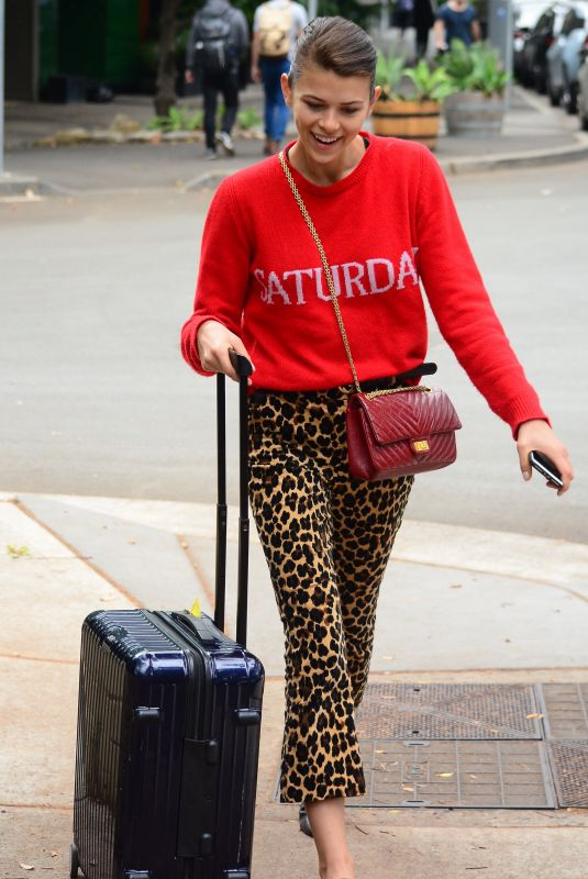 GEORGIA FOWLER Arrives at Airport in Sydney 10/13/2017