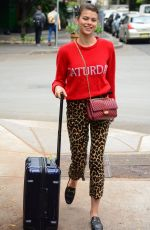 GEORGIA FOWLER Heading to Airport in Sydney 10/13/2017