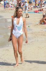 GEORGIA HARRISON in Swimsuit at a Beach in Ibiza 10/05/2017