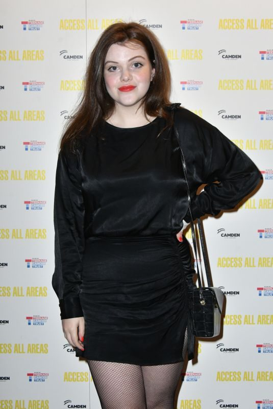 GEORGIE HENLEY at Access All Areas Screening in London 10/17/2017