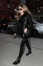 GIGI HADID Arrives at Her Apartment in New York 10/26/2017